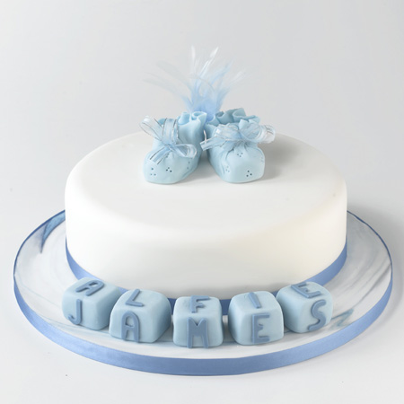 Christening cake - Macaroon by Alison Seagrave